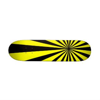 Black and Yellow Vortex Skateboard Mini