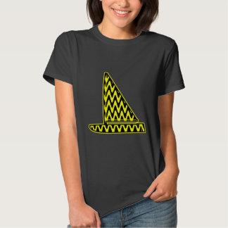 Black and Yellow Zigzag Sailboat Tee Shirt
