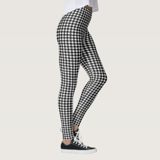Black and Your Color Gingham Leggings