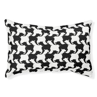 Black and your color Silhouette Dog S Bed