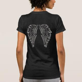 Black Angel Wings Tee Shirt
