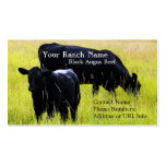 Black Angus Cattle Grazing in Field Business Card Templates