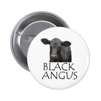 Black Angus Cow 6 Cm Round Badge