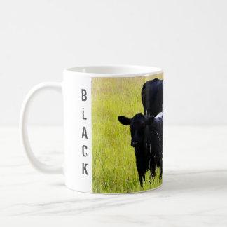 Black Angus Pair in Field Coffee Mug