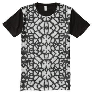 Black Animal Pattern#18a American Apparel Gifting All-Over Print T-Shirt