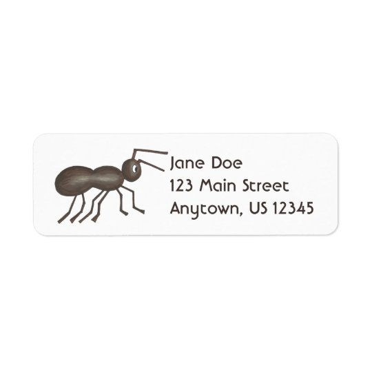 Black Ant Ants Marching Insect Picnic Bug Return Address Label