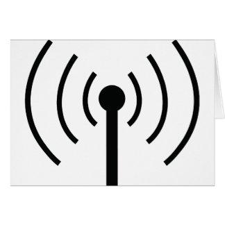 black antenna icon card