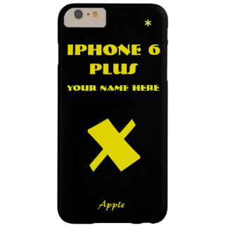Black Apple X Customize IPhone 6 case your name