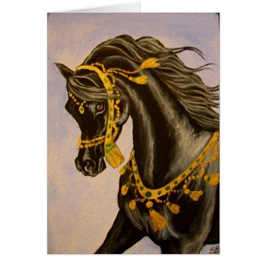 Black Arabian Card