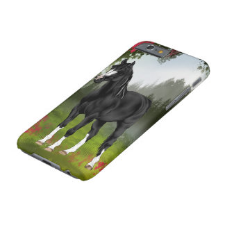 Black Arabian Horse in Spring Meadow Barely There iPhone 6 Case