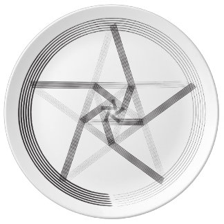 Black Architectural Star Plate