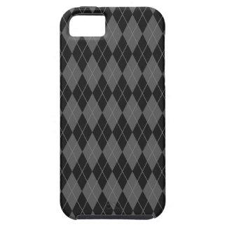 Black Argyle iPhone 5 Cases