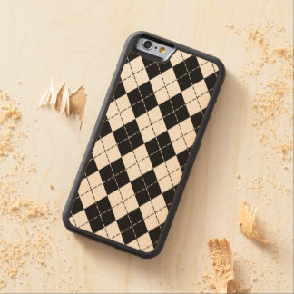 Black Argyle Maple iPhone 6 Bumper Case