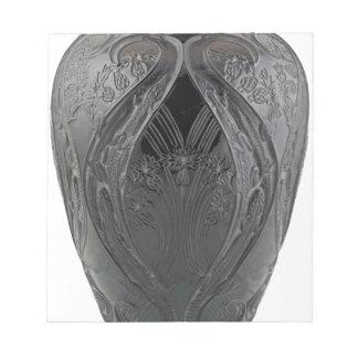 Black Art Deco Glass Lizard Vase Notepad