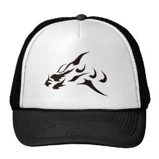 BLACK ART DRAGON TATTOO DESIGN PRINT CAP