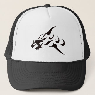 BLACK ART DRAGON TATTOO DESIGN PRINT TRUCKER HAT