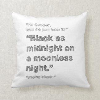 Black as Midnight - TWIN PEAKS cushion