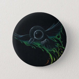 Black as pitch 6 cm round badge