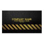 Black Asphalt Construction Build  Hazard Stripe Pack Of Standard Business Cards