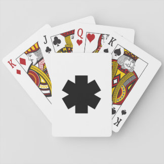 Black Asterisk Playing Cards