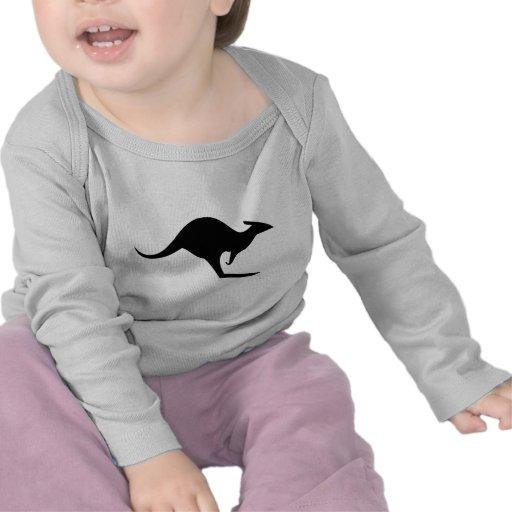 black australian kangaroo - australia t-shirts