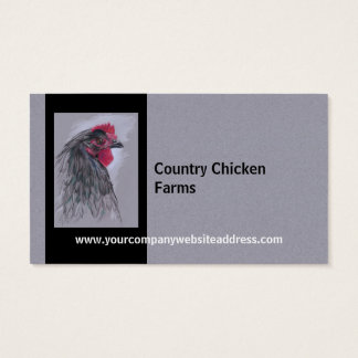 Black Australorp Hen Business Card