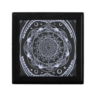 Black, Awakening zen pattern, healing, chakra Gift Box