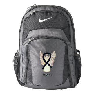 Black Awareness Ribbon Angel Customized Backpack