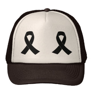 Black Awareness Ribbon Trucker Hat