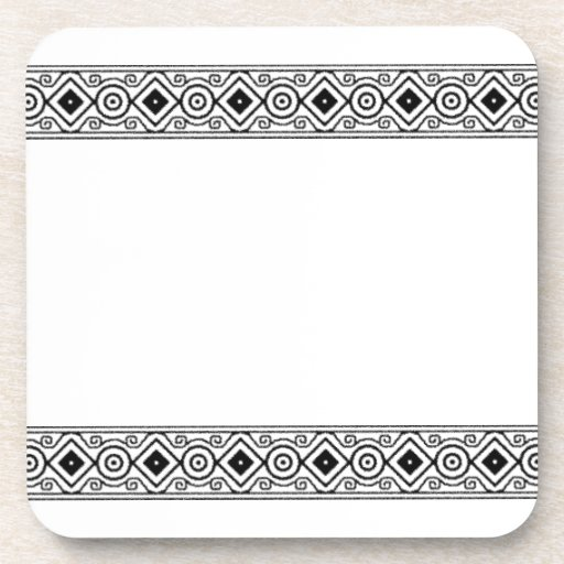 black aztec pattern dining set coaster