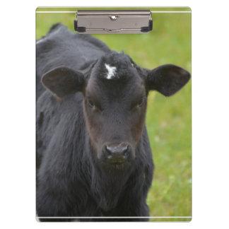 Black Baby Calf Clipboard