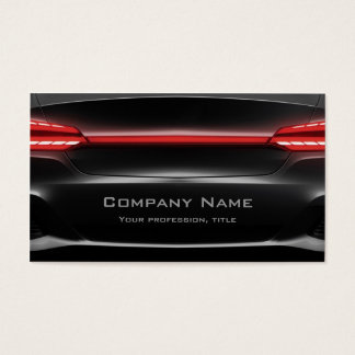 Black Back Of The Car Cool Business Card