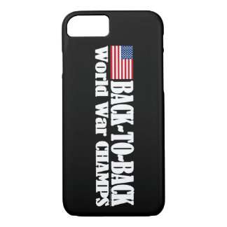 Black Back-To-Back USA Champs iPhone 8/7 Case