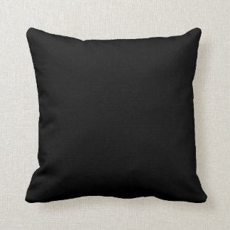 Black Background Throw Cushion