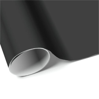 Black Background. Elegant Chic Solid Fashion Color Gift Wrap