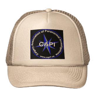 Black Background trucker hat
