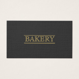 Black Bakery Modern Professional Simple Business Business Card