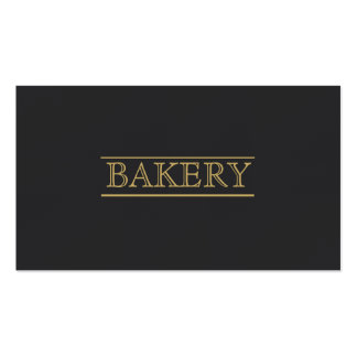 Black Bakery Modern Professional Simple Business Pack Of Standard Business Cards