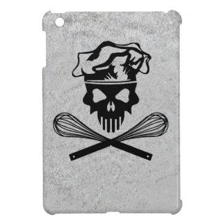 Black Baking Skull and Crossed Whisks iPad Mini Cases