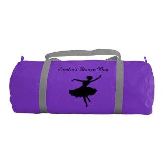 Black Ballet Dancer Duffel Bag Gym Duffel Bag