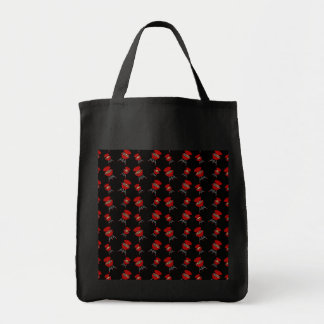 Black barbeque pattern bags