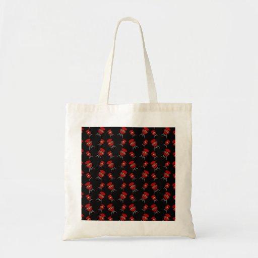 Black barbeque pattern canvas bag