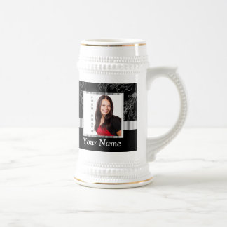 Black baroque instagram template beer stein