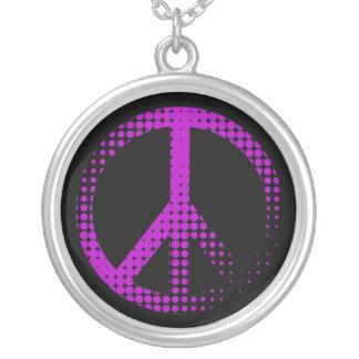black base, peace retro necklace