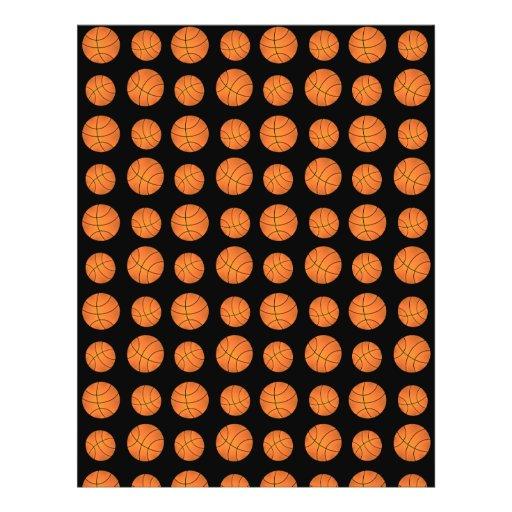 Black basketball pattern flyer