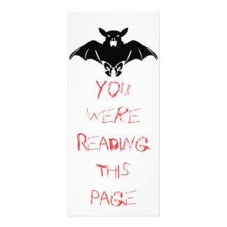 Black  Bat Bookmark Template Rack Cards