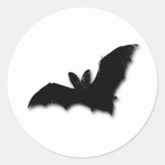 Black Bat Classic Round Sticker