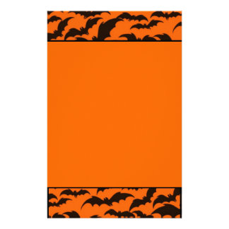 Black Bat Halloween Stationery