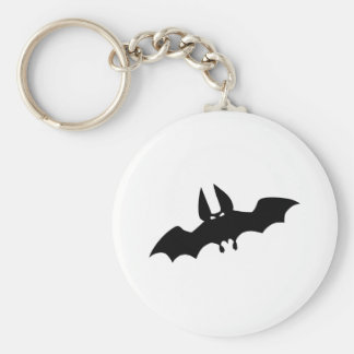 Black bat horror scary keychain