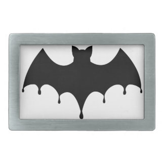 Black Bat Rectangular Belt Buckles